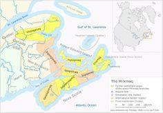 Seven Mi'kmaq Divisions