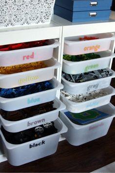 Organized Lego Storage