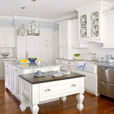 Even though they provide the latest and greatest finish colors, they are Related Design Trend Blue Kitchen Cabinets Ideas to Get You . Kitchen Trends for T Blue Kitchen Cabinets, Upper Cabinets, Painting Kitchen Cabinets, Kitchen Windows, White Cabinets, Kitchen Furniture, Kitchen Decor, Kitchen Design, Urban Furniture