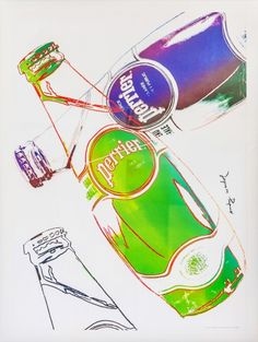 Andy Warhol, affiche PERRIER