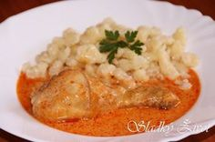 kuraci_perkelt Thai Red Curry, Risotto, Chicken, Ethnic Recipes, Ayurveda, Red Peppers, Eten, Cubs, Kai