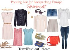 This packing list for Europe shows you travel wardrobe and outfit ideas for the Summer
