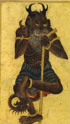 Demon drawing by Mehmet Siyah Kalem, about century. Traditional Paintings, Traditional Art, Dragons, Demon Art, Demonology, Ancient Art, Islamic Art, Occult, Dark Art