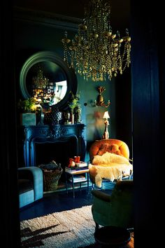 Delicious looking room.   Abigail Ahern