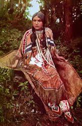 Cherokee Indian Women Warrior | Native American Beads and Dress