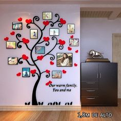 Creative Kids DIY Sticker Romantic Love Tree Photo frame wall living room Stereo Tree restaurant TV Home decor wall stickers Family Tree Picture Frames, Family Tree Photo, Photo Tree, Cheap Wall Stickers, Wall Stickers Home, 3d Sticker, Tree Restaurant, Diy 3d, Home Tv