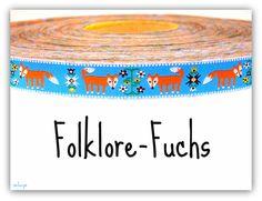 "NEU *** Webband "" Folklore-Fuchs "" *** NEU von schuys auf DaWanda.com"