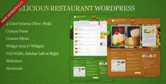 Download and review of Delicious Restaurant Wordpress, one of the best Themeforest Entertainment themes