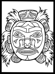 Native American Masks Coloring Book Dover Publications
