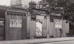 Lens of Sutton bookshop after closure, by Lloyd Rich, late 1970s. See the Exposure column at Design Observer. http://designobserver.com/feature/exposure-lens-bookshop-in-sutton-by-lloyd-rich/38831/