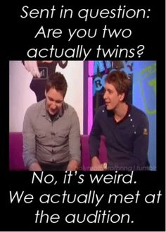 "Hahaha James and Oliver Phelps aka ""The Weasley Twins Fred and George"" Oliver Phelps, Weasley Twins, Fandoms, Harry Potter Love, James Potter, Film Serie, Mischief Managed, Rick Riordan, Jane Austen"