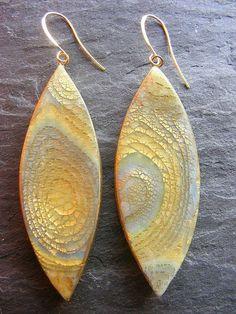 Ohrringe mit Blattmetall - sehen wirklich edel aus