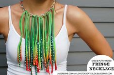 How to make a Tie-Dyed Fringe Necklace