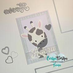 """Fiona Van Der Velde op Instagram: """"Een babykaartje! Met de schattige giraf van My Favorite Things, en een tekst van Carlijn Design! Gebruikte Carlijn producten 🤍Snijmal…"""""""
