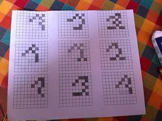 Nuove proposte: n^1. Seguono tutti la linea di base, alcuni graziati ed altri no, stessa altezza (6 quadretti). A mio parere, quelli più convincenti sono senza grazie.