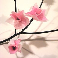 Post image for Paper Cherry Blossoms Craft Project