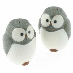Blue Owl Salt & Pepper Dispenser Set by JVS. $21.50