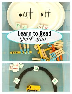 Learn to read Quiet Bins! This is such a great resource for how to teach kids to read.