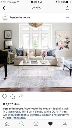 This Light Simplistic Living Room With Gold Finishes And Pastel Colors Is  Stunning. The Rug And The Color Of Those Hardwood Floors Is Beautiful!