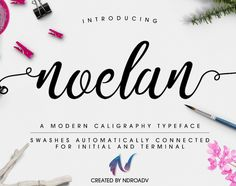 "Check out this @Behance project: ""NOELAN - FREE FONT"" https://www.behance.net/gallery/42210505/NOELAN-FREE-FONT"