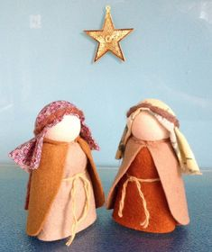One of a Kind HeartfeltDolls Original THIS LISTING IS FOR 7 NATIVITY DOLLS and BABY JESUS IN A LITTLE FELT BASKET The dolls stand about 9cms tall (3.5inches approx) They are perfect for retelling the story of Advent or just as a wonderful addition to you Christmas decoration Little Christmas Hanukkah, Christmas Crafts, Christmas Decorations, Xmas Ornaments, Holiday Decorating, Diy Nativity, Christmas Nativity, Jesus Crafts, Kegel