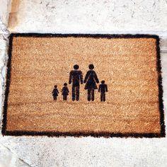 paillasson pochoir famille