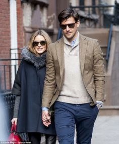 'We make each other better people. It helps that we both work in fashion': Olivia Palermo and fiancé Johannes Huebl Olivia Palermo Outfit, Estilo Olivia Palermo, Olivia Palermo Lookbook, Olivia Palermo Style, Outfits Otoño, Couple Outfits, Fashion Couple, Love Fashion, Men Fashion
