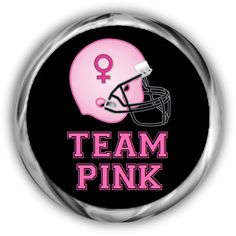 Team Pink Baby Shower Stickers  Personalized Gender Reveal Labels by AnnounceItFavors