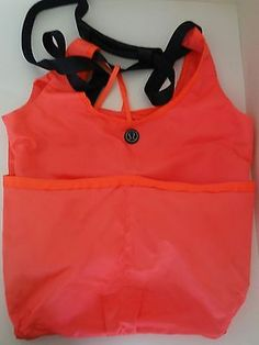 LULULEMON Post Savasana XL Large Coral Nylon Tote Gym Bag Yoga Bag Crossbody