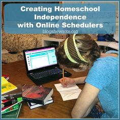 Creating Homeschool Independence with Online Schedulers