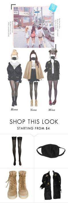 """|| V-Live On The Street || Hana, Yuna, Mina"" by x-allkpop-x ❤ liked on Polyvore"
