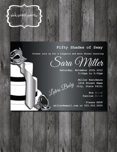 "I love the idea of a ""50 shades"" bachelorette party!"