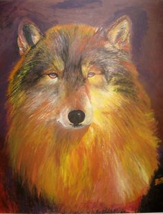 WOLF IN ACRYLICS sold