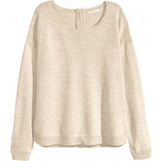 H&M Fine-knit jumper ($23) ❤ liked on Polyvore featuring tops, sweaters, light beige, h&m tops, pink jumper, zipper sweater, acrylic sweater and h&m sweater