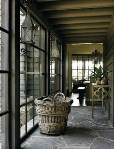 love this rear hall in a chic Blue Ridge Mountains home - design Nancy Warren; architect D. Stanley Dixon; photo Emily Followill via Atlanta Homes & Lifestyle