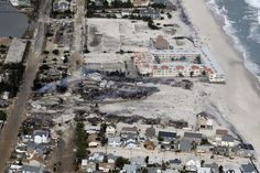 Fire still continues to burn in an area of Brick Township near Mantoloking, just south of the Thunderbird Hotel, in an aerial view of devastation along the barrier islands of Ocean County after Hurricane Sandy wreaked havoc on the Jersey Shore. 10/31/12 (Andrew Mills/The Star-Ledger)