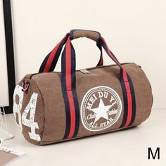 Rainbow Wood Background Gym Bag Sports Duffel Bag Barrel Holdall Bag For Travel Gym Sports Bag