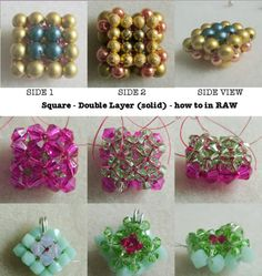 How to make Solid Beaded Square - double layered - in RAW