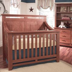 Heartland Lifetime Convertible Crib (in Cherry Wood finish) and a Sopora Perfect Crib Mattress