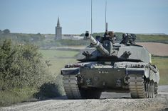 A Challenger 2 tank on Castlemartin Ranges in Pembrokeshire, Wales.