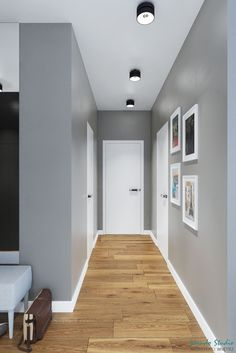 9 super flooring ideas that would make a difference 8 « Kitchen Design Home Room Design, Home Interior Design, Living Room Designs, Home Entrance Decor, House Entrance, Grey Walls White Trim, Home Wall Painting, Flur Design, House Ceiling Design