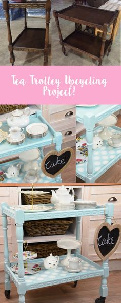 It's amazing what you can do with old furniture. We visited our local charity shop called Nightingale House Hospice, picked this old tea trolley & we turned into an adorable & modern item using Sizzix dies. Find out how we made it here. Feature your make with us using #mymakingstory - #handmadecrafts #crafts #crafting #upcycling #upcycle #DIYcrafts #sizzix #handmade #furniture #furnituremakeover #sizzix