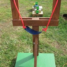 Life Sized Angry Birds Game. Building for Holden's party !