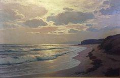 Carl Kenzler (1872-1947) - Soirée en mer, huile sur toile, 78 x 118 cm.