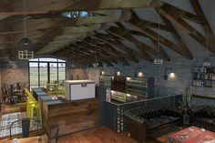 drew interiors | cedar lakes clubhouse | render