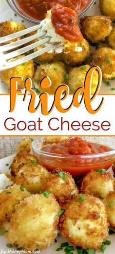Fried Goat Cheese Fried Goat Cheese – These delicious goat cheese balls make the perfect party food. Bite size foods are always the perfect size and this goat cheese appetizer will have everyone begging for more! Goat Cheese Recipes, Cheese Appetizers, Appetizer Recipes, Snacks Recipes, Recipies, Best Appetizers Ever, Appetizers For Party, Simple Appetizers, Bite Size Appetizers