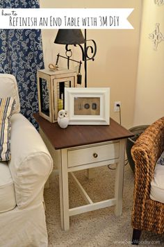 How to Refinish an End Table with @3MDIY #diy #3MDIY