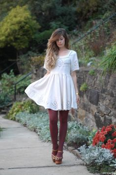 burgundy grey white outfit dress - Google Search