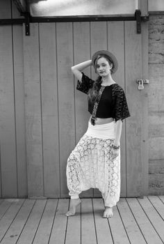 Vintage Lace and Bamboo HAMMER PANTS  Because the hammer pants can be vintage too check this look idea!!! Hello idea of the day take!!!! Lol
