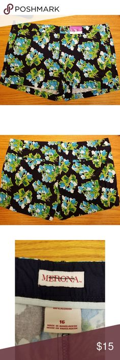 Merona floral shorts Women's size 16 New with tags Floral shorts Merona Shorts